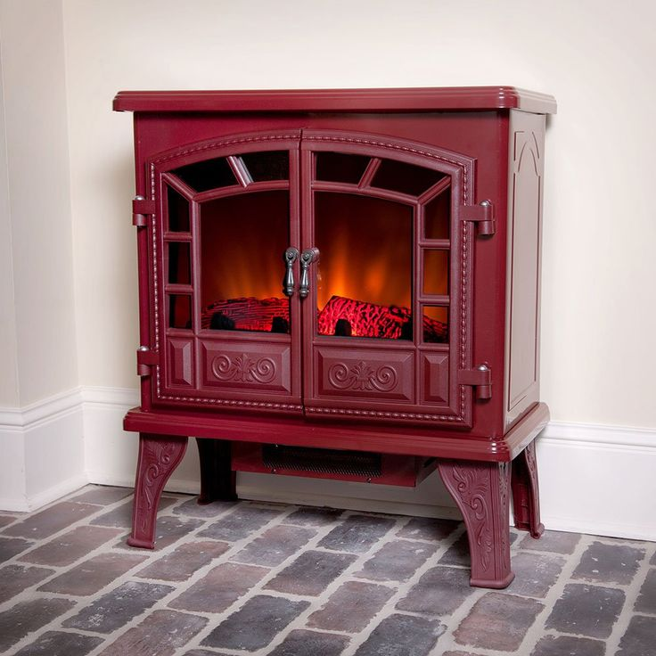 Duraflame 750 Electric Fireplace Stove in Cranberry - DFS ...
