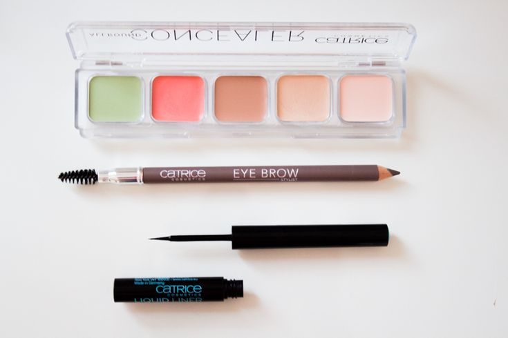 Catrice: Eye Brow Pencil, the Concealer Palette and the Waterproof Liquid Eyeliner.
