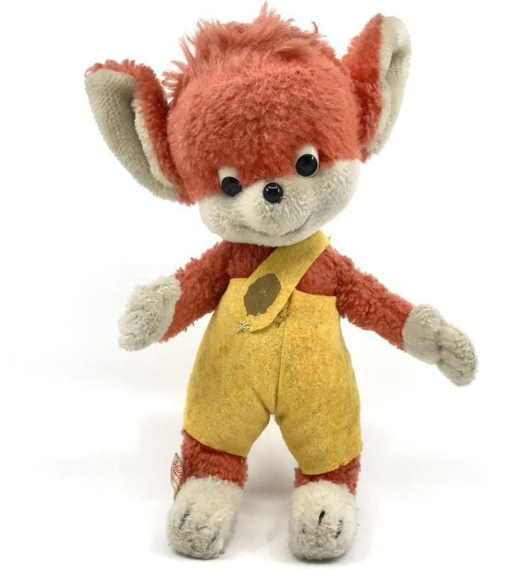 Schuco Fix Foxi #Fox Dralon Plush #BigoBello Seam Tag Bendy Comic Character 1960s #Schuco AllOccasion