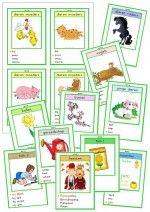 Kwartet Lente - 11 onderwerpen: dieren moeders / vaders, jonge dieren, bollen, bomen, tuin, feesten, enz.