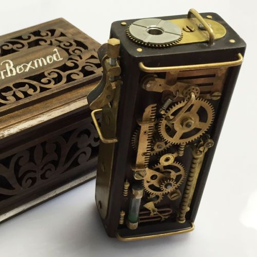 Borobudur-Box-Mod-Steampunk-Hand-Made-Authentic-EXTREME-RARE-Mechanical-Mod