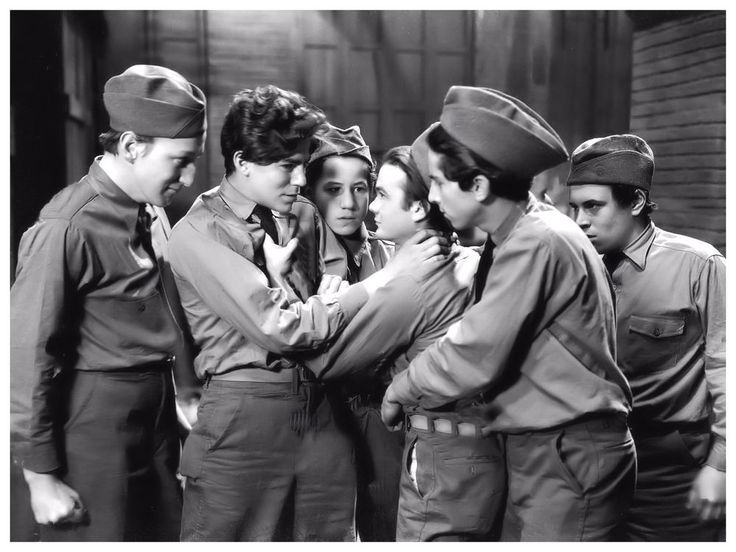 BOBBY JORDAN LEO GORCEY  BILLY HALOP HUNTZ HALL DEAD END KIDS