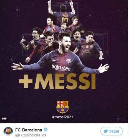 Messi contratto col Barcellona fino 2021 messi ha deciso di rinnovare col barcellona. il campione argentino ha deciso di firmare un nuovo accordo con la squadra spagnola fino al 2021. un bel risultato per lui. dopo il matrimonio con antonel #messi #barcellona #calcio #liga