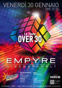 Prima festa Over 30 @ Empyre disco 80 Forlì http://www.nottiromagnole.it/?p=13981