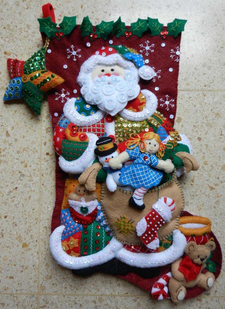Bota Patchwork Santa
