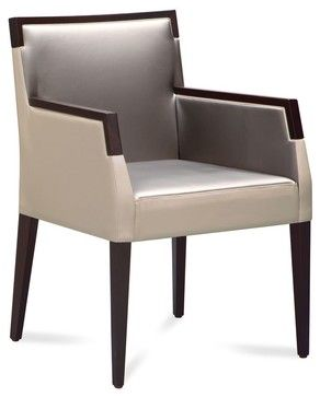 Ariel-pi Armchair - Taffy White - Taffy Gray - modern - Armchairs And Accent Chairs - Edgewood Ave