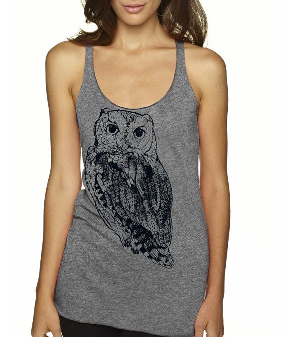 Hey, I found this really awesome Etsy listing at https://www.etsy.com/listing/182553618/womens-owl-shirt-tank-top-woodland
