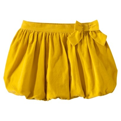 Cherokee® Infant Toddler Girls' Cord Skirt. In gold - pair with colorful leggings and boots for fall.