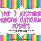 FREE Year 3 Australian National Curriculum Posters by Coffee, Kids and Compulsive Lists.