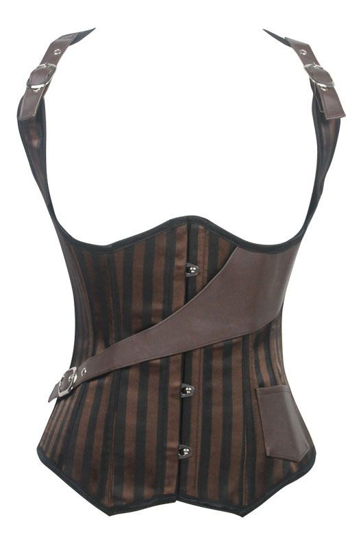 12 Steel Bones Patterned Under Bust Corset