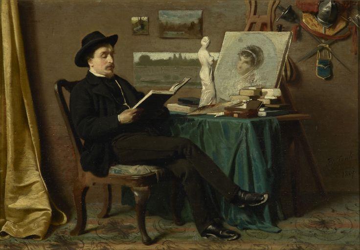 Tito conti nello studio del pittore 1867 genova for Tito d emilio arredamenti catania