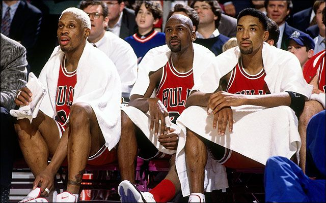 Rodman, Jordan, and Pippen