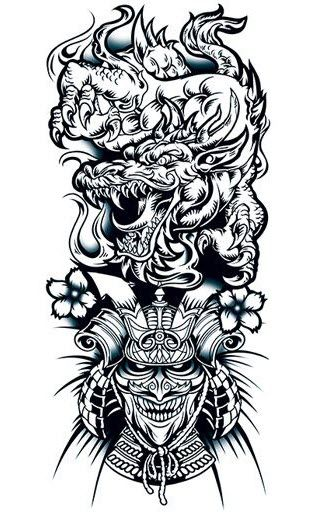 ... Dragon N Warrior Tattoo Warrior Tattoo Designs Skull Samurai Tattoo