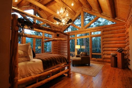 Log cabin bedroom dream bedrooms pinterest in the for 3 bedroom log cabin