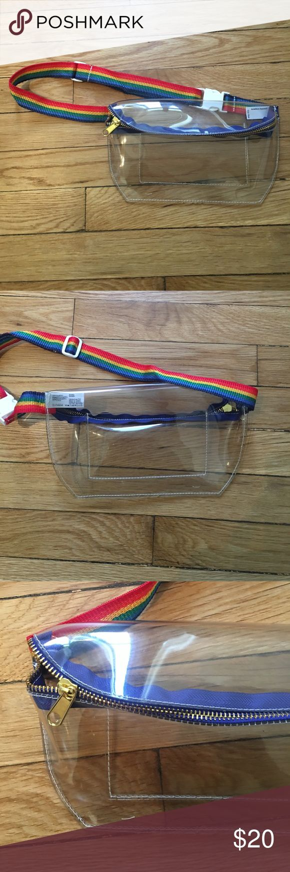 American Apparel Vinal Fanny Pack American Apparel Vinyl Fally pack with Rainbow adjustable strap.  Not made anymore!! Never been used, New condition. American Apparel Bags