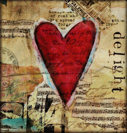 Gorgeous heart delight art journal