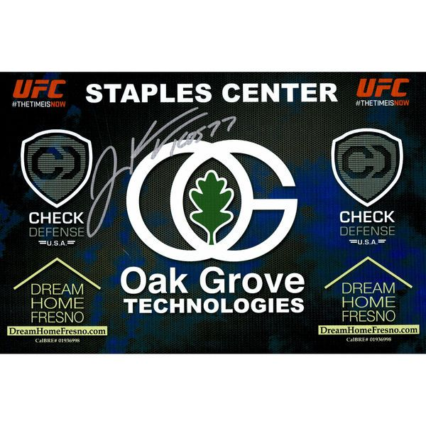 "Josh Koscheck Ultimate Fighting Championship Fanatics Authentic Autographed 11"" x 17"" UFC 184 Mini Replica Sponsor Banner - $74.99"