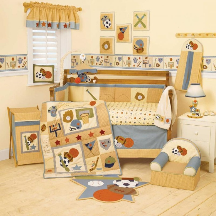 Bedroom Sets For Cheap Burnt Orange Bedroom Accessories Art Themed Bedroom Bedroom Sofa: 1000+ Ideas About Sports Nursery Themes On Pinterest