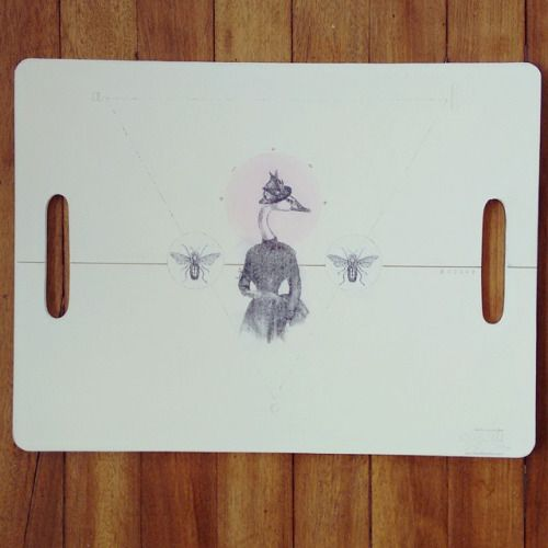 """ La razón de ser 2 "" bandeja, pieza única #Himallineishon #tray #homedecoration #homedecor #hamdmade #illustration #art"
