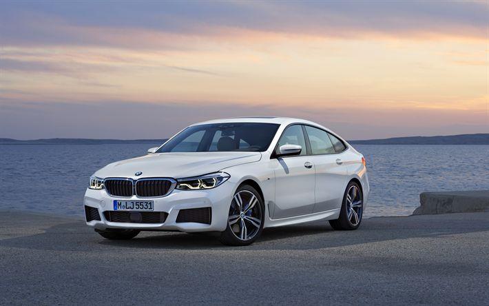 Download wallpapers BMW 640i GT, 4k, 2018 cars, BMW 6-Series GT, german cars, BMW