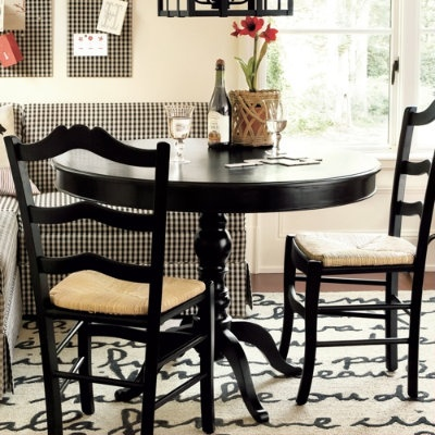 Black Dining Room Set With Bench