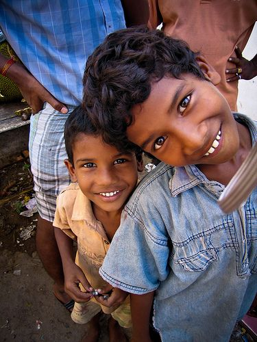 Children of Chennai, Tamil Nadu. *To find out how to sponsor a disadvantaged child's education in India, please go to: www.healcharity.org