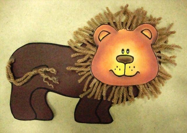 Um simpático leão, nada feroz.        Para esta tarefinha vc vai precisar de mais ajudantes do que o normal.    Material:  - papel cartão...