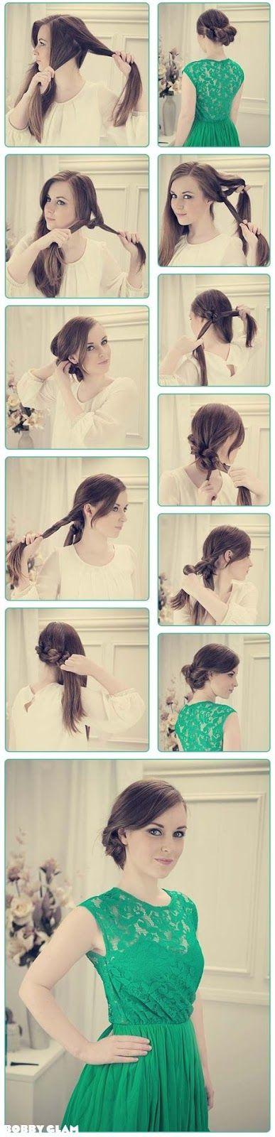 Peinado casual .- Chongo fácil de hacer