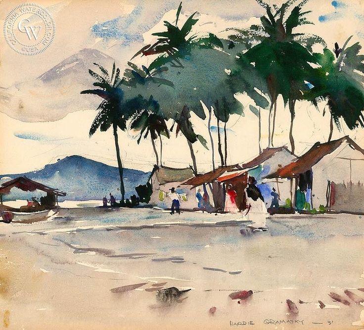 Mazatlan, 1931, California art by Hardie Gramatky. HD giclee art prints for sale at CaliforniaWatercolor.com - original California paintings, & premium giclee prints for sale