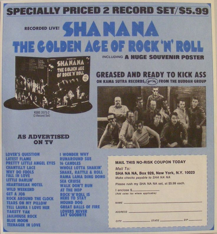 sha na a | ... interest and requests from sha na na fanatics like