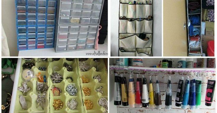 El post perfecto para los amantes del orden y de las manualidades. ¡Ten tus materiales bien organizado!