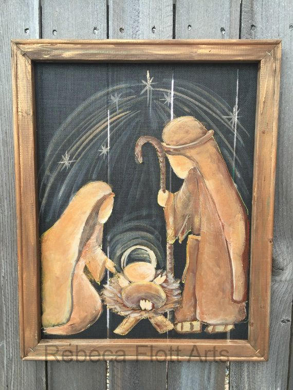 Hey, I found this really awesome Etsy listing at https://www.etsy.com/listing/259353133/nativity-on-window-screen-with-recycled
