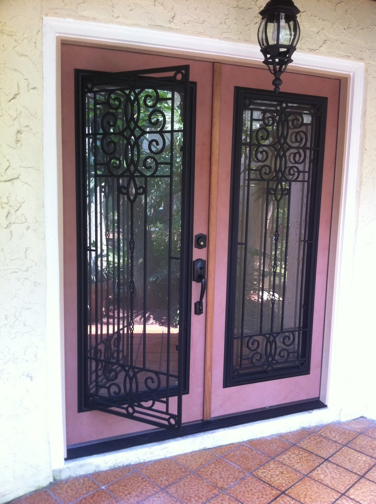 Doors Design: Double Door Entryway With ODL Veranda Glass Inserts
