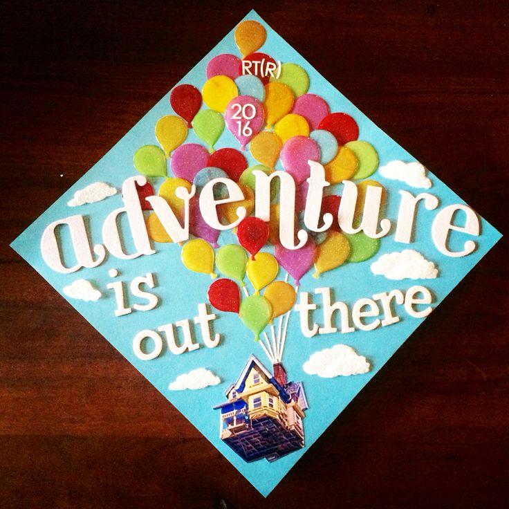 Disney Pixar UP inspired graduation cap!