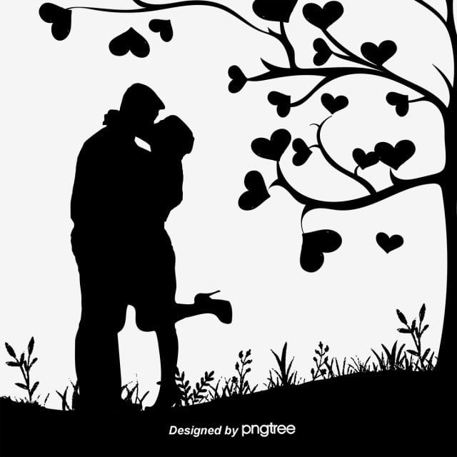 Couple Silhouette Black And White Sketch Love Png And Vector With Transparent Background For Free Download Couple Silhouette Silhouette Art Love Png