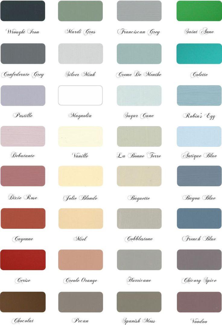 Color Chart Maison Blanche Paint Company