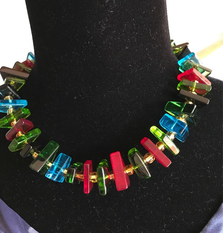 A personal favorite from my Etsy shop https://www.etsy.com/listing/550018529/funky-diva-necklace
