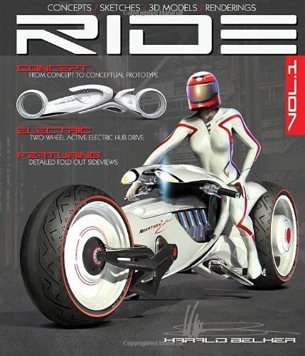 RIDE: Futuristic Electric Motorcycle Concept by Harald Belker