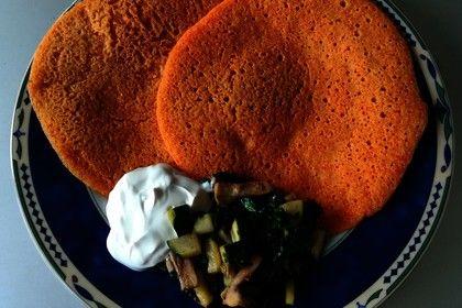 Pfannkuchen aus roten Linsen 1