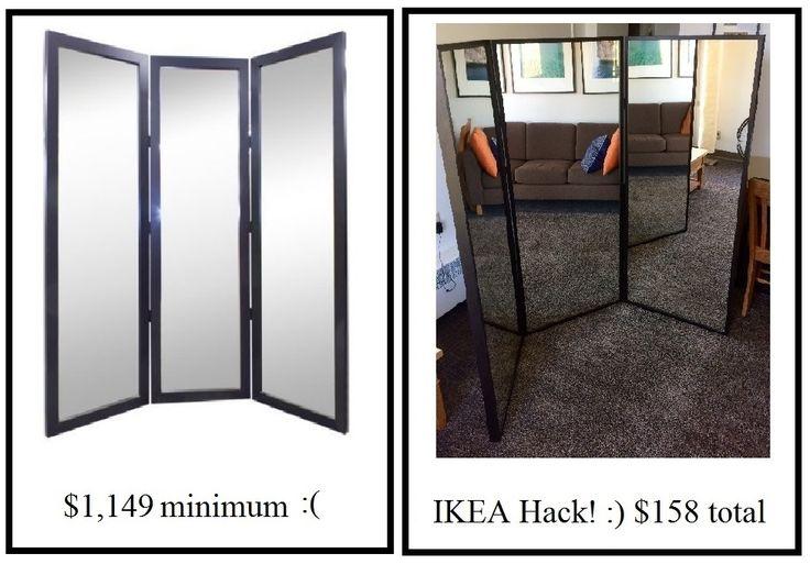 DIY Tri fold mirror IKEA Mirror Hack!