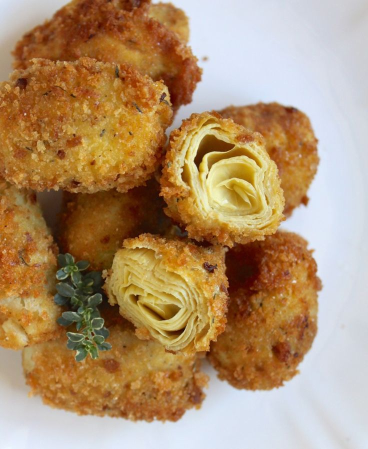 Gorgeous appetizer to serve hot, or not. Crispy breaded coating on the outside reveals a beautiful rosette when sliced in half!