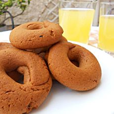 Moustokouloura - soft Cypriot/Greek cookies made with grape must.