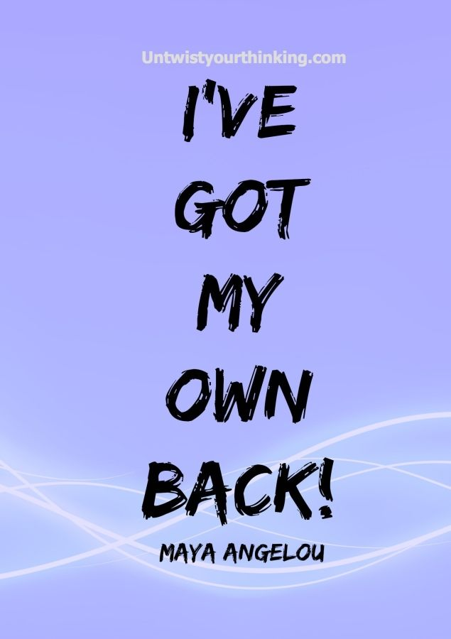 I have my own back! #affirmation #confidenct #Lifecoaching