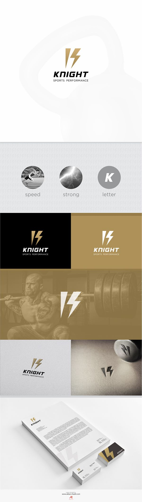The simple and clean #logo #design and #branding which uses letter and lightning as concept for #sports #logo by www.akbar-rhadit.com