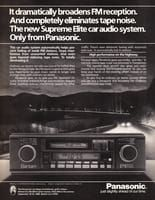 Panasonic Supreme Elite Car Audio 1984 Ad Picture