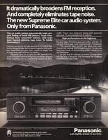 Panasonic Supreme Elite Car Audio 1984 Ad Picture