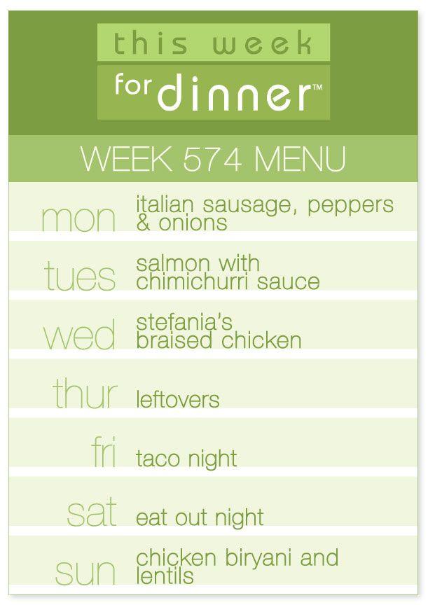 Week 574 Weekly Menu From Janemaynard Weekly Dinner Menu Dinner Planning Weekly Weekly Menu