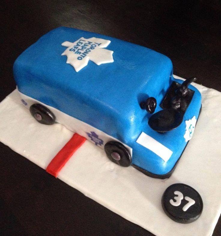 Toronto Maple Leafs Zamboni Cake