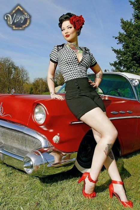 Hot rod girls pin up girls pinterest for Sites like touch of modern