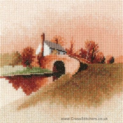 Lock Keeper's Cottage - John Clayton Miniatures Cross Stitch Kit from Heritage Crafts